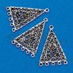 Háromszög függő,antik ezüst