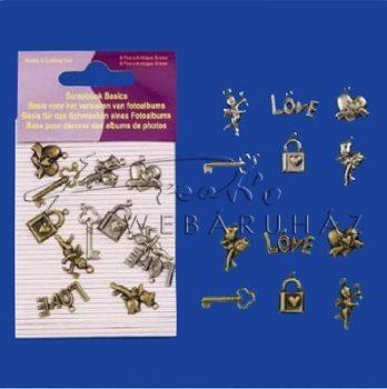 Fém dísz - Szerelem - fém függő