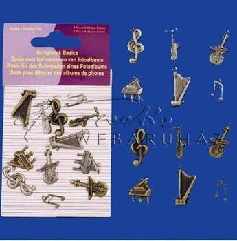 Fém dísz - Hangszerek - fém függő