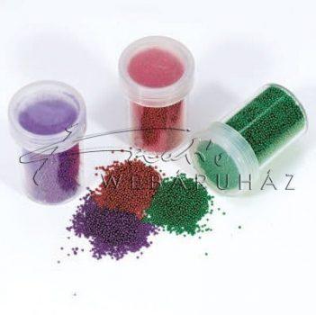 Szórógyöngy (zöld, piros, sötétlila)