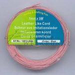 Bőrhatású Szálak, 1mm - Pink