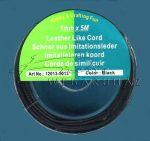 Bőrhatású Szálak, 1mm - Fekete