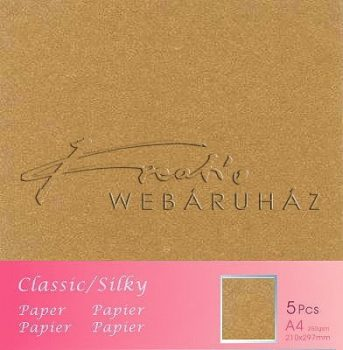 Metál fényű papír - Medival Gold színű karton 250gr - kétoldalas