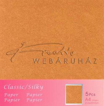 Metál fényű papír - Réz színű karton 250gr - kétoldalas