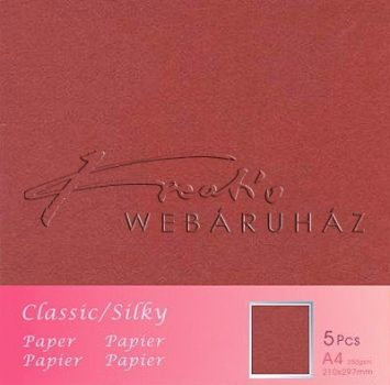 Metál fényű papír - Wine - borvörös színű karton 250gr - kétoldalas