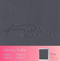 Metál fényű papír - Antracité - Szénfekete színű karton 250gr - kétoldalas