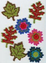 Levél és virág mintás, 3D matrica
