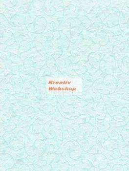 Domborított papír - Világoskék színű Gyöngyház Inda Papír