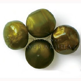 Zöld Akril Kő- Barokk, Gyöngy