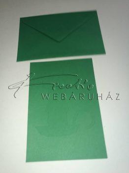 Meghívó készlet - Gyertyás, zöld paszpartu borítékkal