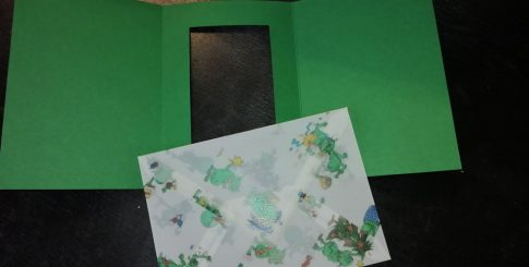 Boríték - Transzparens boríték - Koboldos, zöld- 3 db-os készlet