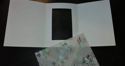 Boríték - Transzparens boríték - Hóemberes, fehér- 3 db-os készlet