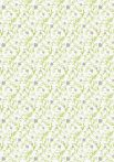 Kartonpapír - Just married - zöld indákkal, ezüst szívekkel - 1 lap