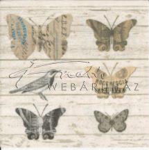 Szalvéta Paper butterflies 33x33cm