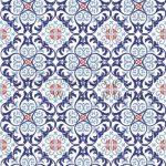 Kartonpapír - Ornament Fresia, kék Karton
