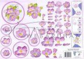 Lila virágok kezdőknek, Fázisos 3D