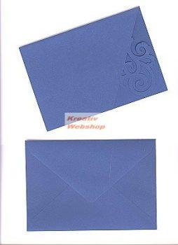 Meghívó készlet - Girlandos, színes paszpartu borítékkal - 5 db