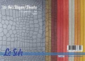 Domborított papír - Krokodil mintás, 120gr.