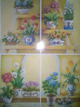 Lépcső Virágokkal, 3D készlet