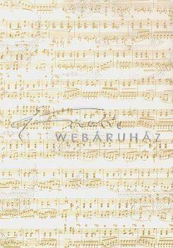 Transzparens papír - Fehér-arany kotta