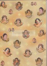 Sárga angyal motívumos transzparens papír