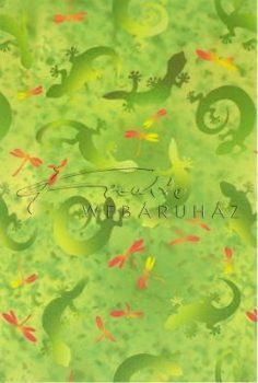 Transzparens papír - Gekkó, zöld
