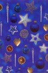 Transzparens papír - Kék karácsonyfadíszek