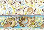 Transzparens papír - Kékes színű Népi