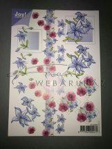 Kék, rózsaszín virág Fázisos 3D