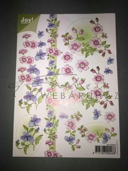 Rózsaszín, lila virág, Fázisos 3D 2