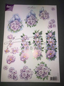 Lila virág, gerlepár, Fázisos 3D