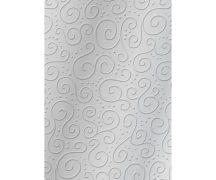 Domborított karton - Milánó ezüst metál színű - 1 lap, 20x30cm, 220gr
