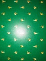 Kartonpapír - Angyal mintás zöld színű