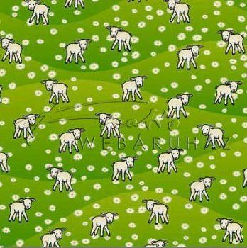 Transzparens papír - Bárányos, zöld