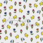 Transzparens papír - Csibés, tulipános 5 lap / csomag