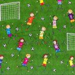 Transzparens papír - Focizó gyermekek