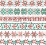 Transzparens papír - Piros-zöld pihe, csillag, norvég
