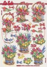 Tulipán Csokor Kosárban, Fázisos 3D