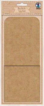 Asztali evőeszköztartó, díszíthető, 250gr, 24x10cm, natúr karton, 6 db/csomag