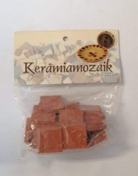 Piros kerámia mozaik