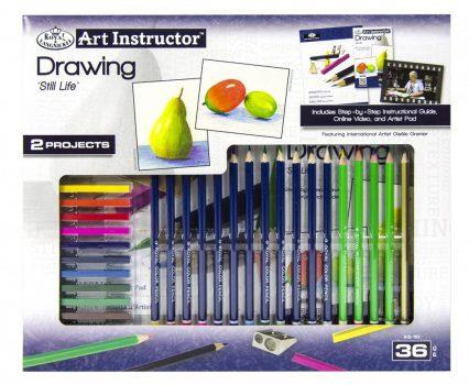 Nagy művészeti oktató készlet - Színes rajzolás- csendélet