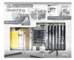 Nagy művészeti oktató készlet - Grafikai szett- 4 különböző kép megrajzolása