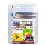Művészeti oktató készlet - Akvarellfestés- csendélet- műanyag hordtáskában