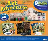 Állatos művész készlet - 40 részes ajándékkészlet nagyméretű dobozban