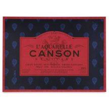 CANSON Héritage  merített, savmentes akvarellpapír-tömb 100 % gyapotból, (1 oldalt ragasztott)  12 ív, sima 23 x 31 cm