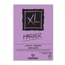 """CANSON  """"XL""""  MARKER, marker-tömb, fehér, impregnált papír, alk. filctoll használatához, röv. old. spirálkötött, mikroperforált 70g/m2 100 ív A3"""
