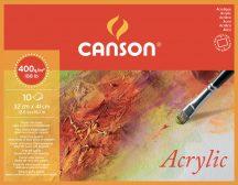 MONTVAL savmentes akvarell- és akril festő-tömb 100 % alfa cellulózból, (4-oldalt ragasztott) 400 gr, 10 ív, finom, 32 x 41 cm