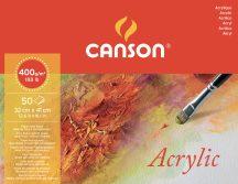 MONTVAL savmentes akvarell- és akril festő-tömb 100 % alfa cellulózból, (hosszú oldalán ragasztott) 400 gr, 50 ív, finom, 32 x 41 cm