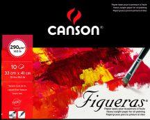 FIGUERAS tömb, savmentes olaj- és akrilfestő papír, vászonjellegű felülettel, (rövid oldalán ragasztott) 290g/m2 10 ív 33 x 41