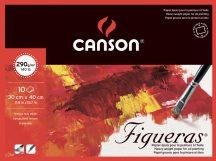 FIGUERAS tömb, savmentes olaj- és akrilfestő papír, vászonjellegű felülettel, (4-oldalt ragasztott) 290g/m2 10 ív 30 x 40